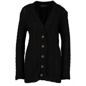 Sweaters - Black Button Up Knit Cardigan